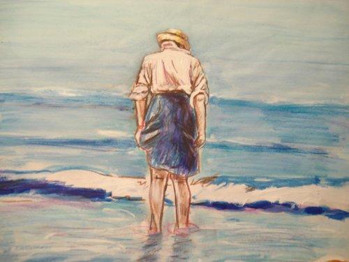 A Drawing of Maria at the Seashore