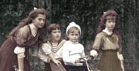 Masha, Alexei, Anastasia, and a cousin